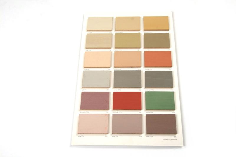 Kalkverf Kleurenkaart handgeschilderd mp 200 tm mp 225
