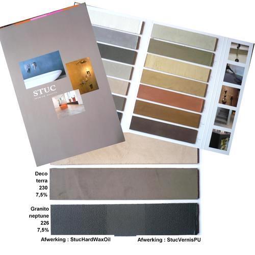 Stuc kleurenkaart handgeschilderd