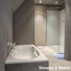 Stuc Deco en Granito STUC is een hoogwaardig en decoratief mineraal product, voor het bekleden van vloeren en wanden.  STUC kan BINNEN op elke stevige, stabiele en droge ondergrond aangebracht worden, zoals beton, chape, maar ook op bestaande tegels. Ook trappen, sanitaire elementen, tafel- en keukenbladen, etc. … kunnen met STUC afgewerkt worden. De toepassing van STUC, afgewerkt met StucVernisPU, in keukenspoelbakken is meestal te fragiel.
